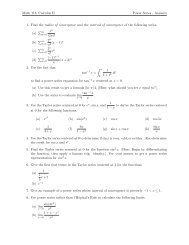 answers to the Power Series Worksheet
