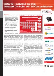 netX 10 – networX on chip Netzwerk Controller with Tri-Core ...