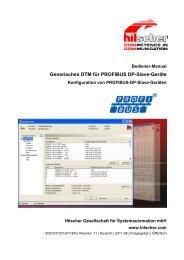 Generisches DTM für PROFIBUS DP-Slave-Geräte - Hilscher