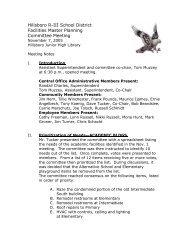 Hillsboro R-III School District Facilities Master Planning Committee ...