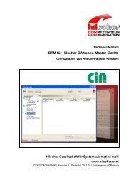 DTM für Hilscher-CANopen-Master-Geräte