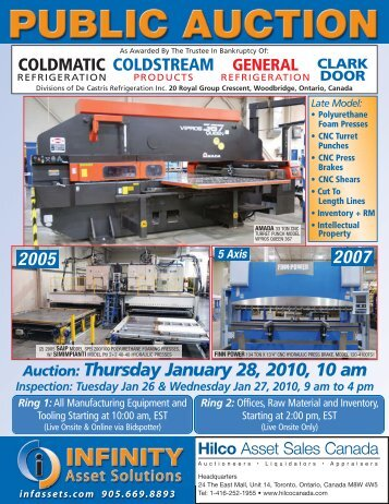 Auction: Thursday January 28, 2010, 10 am