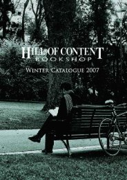 Winter 2007 - Hill of Content Bookshop
