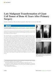 Late Malignant Transformation of Giant Cell Tumor of Bone ... - Healio
