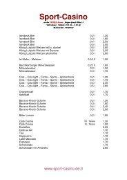 Getränkekarte (PDF) - Hamm-Mitte.de