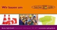 Wir bauen um – Sie stauben ab - Becker Optik GmbH