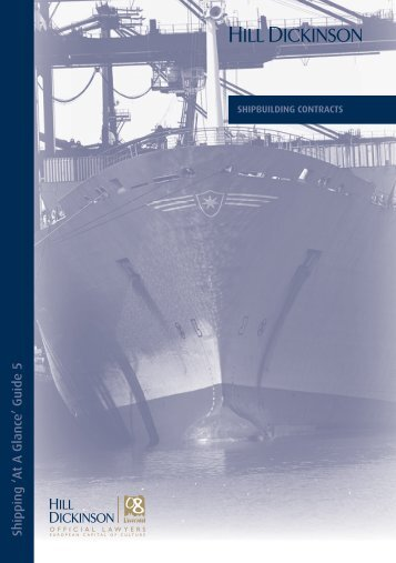 Shipbuilding Contracts - Hill Dickinson