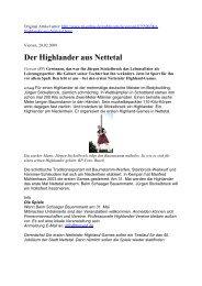 Der Highlander aus Nettetal - 1. Nettetaler Highlander Verein eV