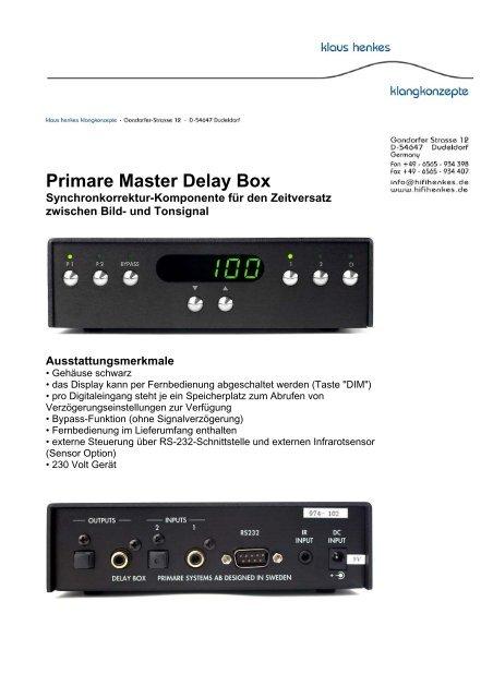Primare Master Delay Box