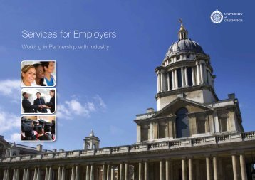 Services for Employers - University of Greenwich