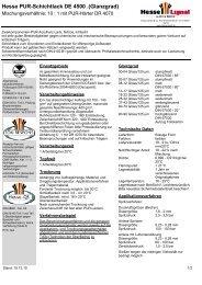 Hesse PUR-Schichtlack DE 4500 .(Glanzgrad) - Hesse Lignal