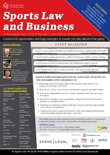 Sports Law and Business - Halebury