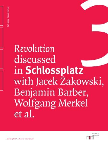 Read the latest edition of Schlossplatz 3 - Hertie School of ...