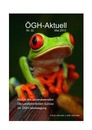 ÖGH-Aktuell, Nr. 32, Mai 2013 - Österreichische Gesellschaft für ...