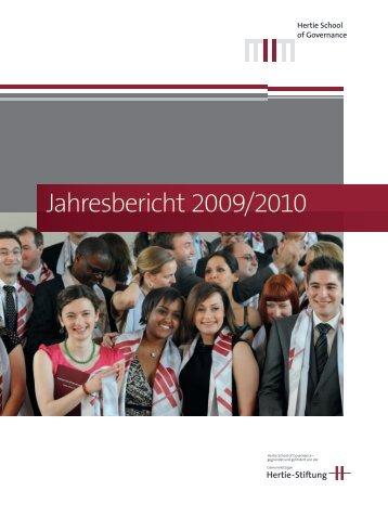 Jahresbericht 2009/2010 - Hertie School of Governance