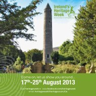 17th-25th August 2013 - The Heritage Council