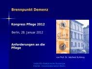 Kuhlmey, A.: Brennpunkt Demenz - Anforderungen an ... - Heilberufe