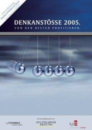 DENKANSTÖSSE 2005. - Hermann Scherer