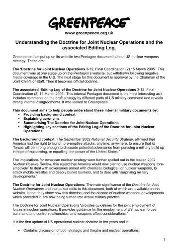 Nuclear doctrine