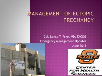 Management of Ectopic Pregnancy - Oklahoma State University ...