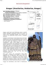 Ansgar - Ökumenisches Heiligenlexikon