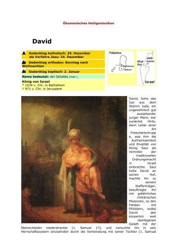 david kumenisches heiligenlexikon - Knig David Lebenslauf