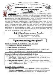 Der Pfarrbrief für die aktuelle Woche - Katholischen Pfarrei Heilige ...
