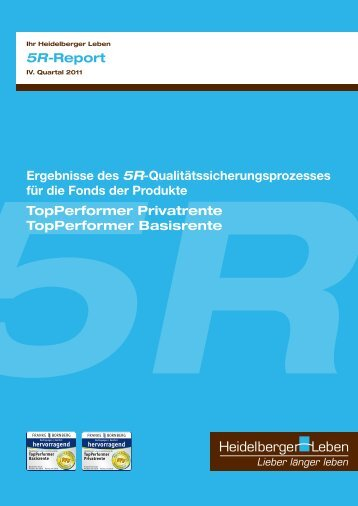 5R-Report - 4. Quartal 2011 - Heidelberger Leben