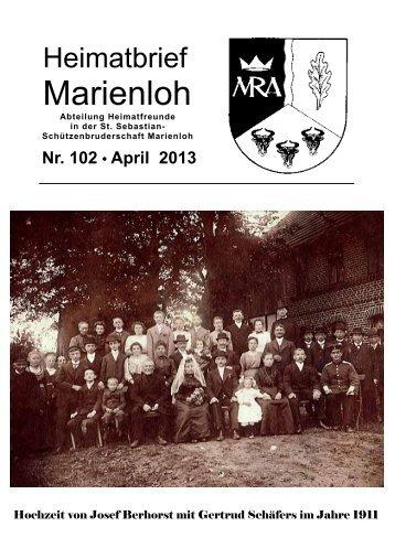 Brief 102 - April 2013 - Heimatbriefe Marienloh