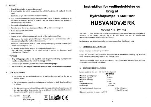 husvandværk - Harald Nyborg