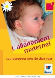 L'allaitement maternel - Conseil Général de l'Hérault