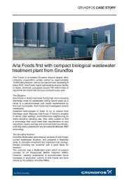 Arla Foods first with compact biological wastewater ... - Grundfos