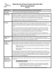 Primary Cesarean Section Deliveries – 2011 - Minnesota ...