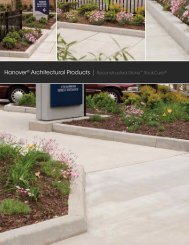 Hanover® Architectural Products | Reconstructed Stone™ RockCurb®