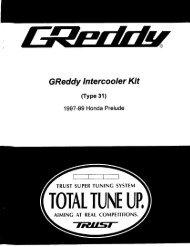 1997-01 Honda Prelude / Type31V - GReddy