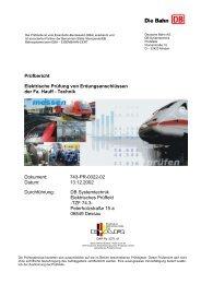 Prüfbericht Dokument: Datum: Durchführung: 743-PR ... - hauff technik