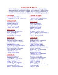 YEAR 2010 DONORS LIST - Hindu Temple of Oklahoma City