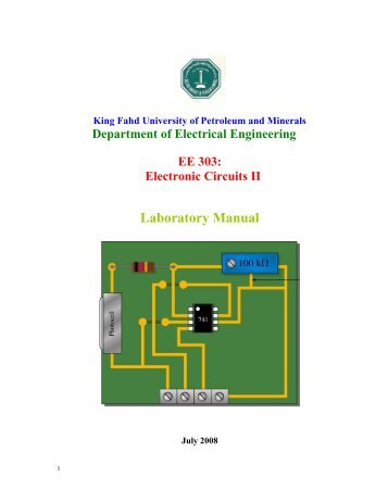 Laboratory Manual - King Fahd University of Petroleum and Minerals