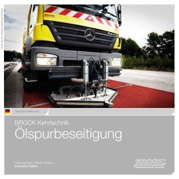 Produktbroschüre Ölspurbeseitigung - Brock Kehrtechnik GmbH