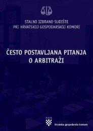 esto postavljana pitanja o arbitraći - Hrvatska gospodarska komora