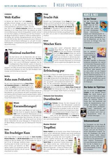 Neue Produkte 8|2013 (PDF 820 KB) - Handelszeitung
