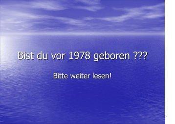 Bist du vor 1978 geboren ??? - Haustechnik-Corbusierhaus