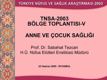 Bebek ve Çocuk Ölümlülüğü - Hacettepe Üniversitesi Nüfus Etütleri ...