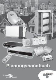 Seite 1 TRIAX Planungshandbuch