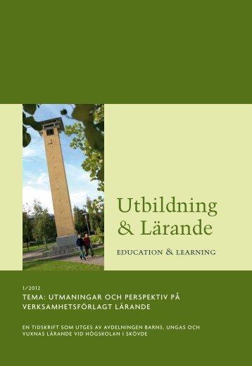 Utbildning & Lärande - Högskolan i Skövde