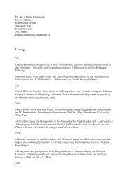 Vorträge / Lehre - Historisches Institut - Universität Bern