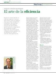 El arte de la eficiencia - Hay Group