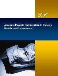 Accounts Payable Optimization 873kB - Siemens Healthcare