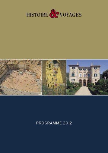 PROGRAMME 2012 - Histoire & Voyages
