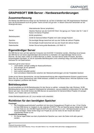 BIM-Server-Hardwareanforderungen - GRAPHISOFT Deutschland ...